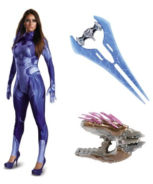 Halo Cortana Women Costume Kit