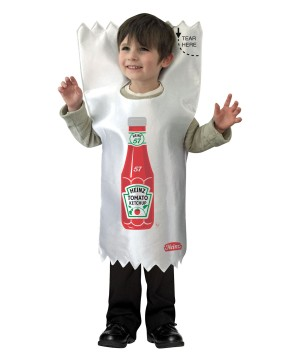 Toddler Boys Heinz Ketchup Packet Costume