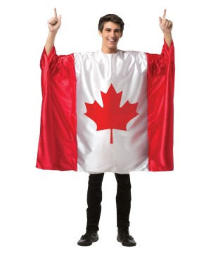 Adult Canada Flag Costume