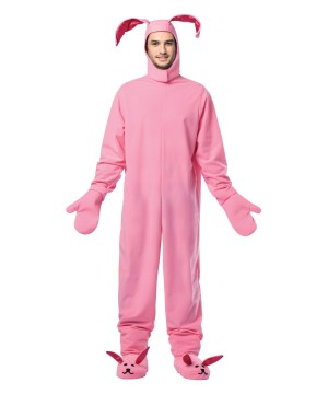 Mens Pink Bunny Costume