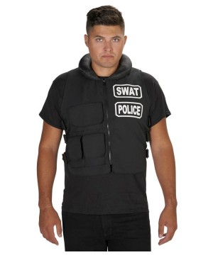 Mens Swat Team Black Vest