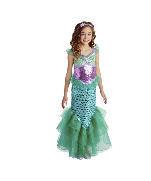 Girls Mermaid Costume Dress