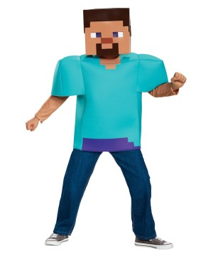 Minecraft Steve Boys Costume
