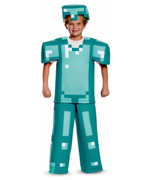 Minecraft Superior Blue Armor Boys Costume