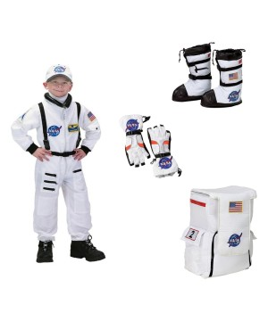 Astronaut Boys Costume Helmet Gloves Boots and Backpack Nasa Set