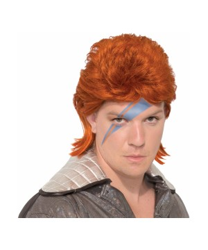 Orange Rock Star Wig
