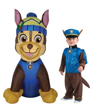 Paw Patrol Chase Inflatable and Costume Set