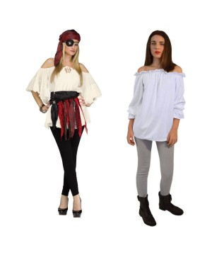 Pirate Woman Costume Set With White Shirt
