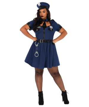 Plus size Womens Flirty Cop Costume