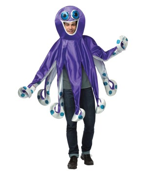 Purple Octopus Adult Costume