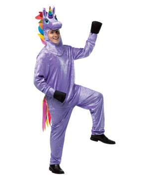Mens Purple Unicorn Costume