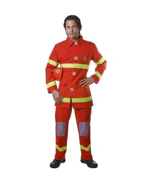 Red Firefighter Men Costume