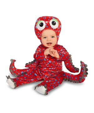 Red Octopus Baby Boys Costume