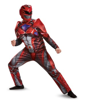 Red Power Ranger Muscle Men Movie Costume