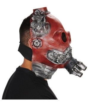 Red Steampunk Gasmask