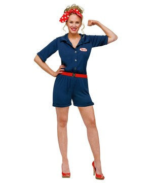 Rosie the Riveter Womens Costume