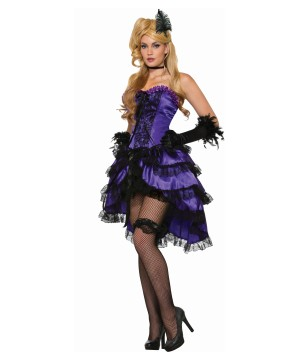 Violet Saloon Girl Women Costume