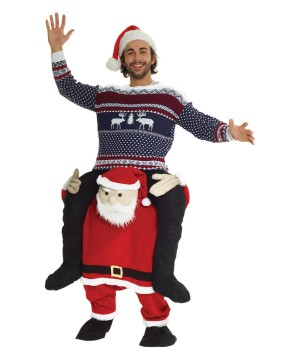 Santa Piggyback Mens Costume