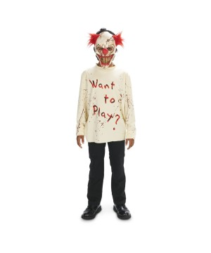Sinister Playground Clown Boys Costume