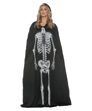 Skeleton Cape Womens Costume