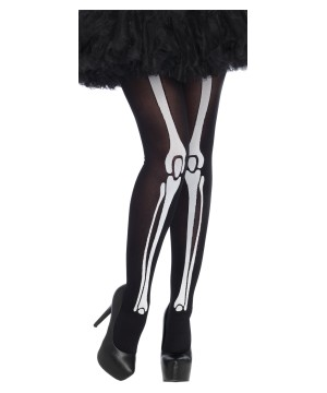 Skeleton Print Bone Womens Tights