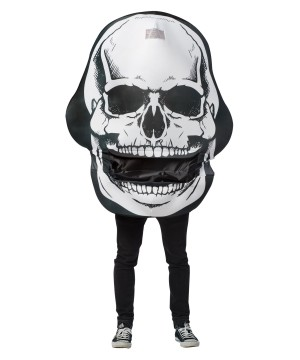 Mens Skull Mouth Head Costume