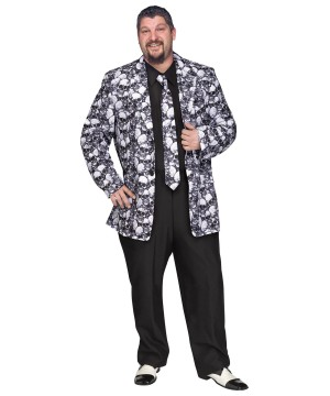 Skull Print Jacket and Tie plus Costume