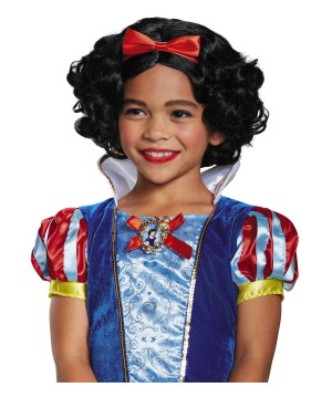 Snow White Girls Costume Wig