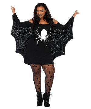 Womens plus Spiderweb Jersey Dress
