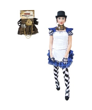 Womens Steampunk Alice Costume Set