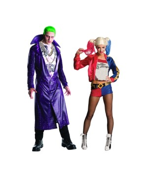 Suicide Squad Joker and Harley Quinn Couples Costume