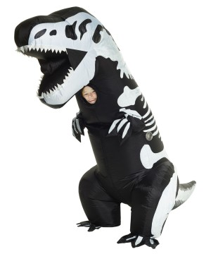 T-rex Skeleton Inflatable Boys Costume