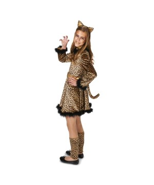Teen Girls Leopard Dress Costume