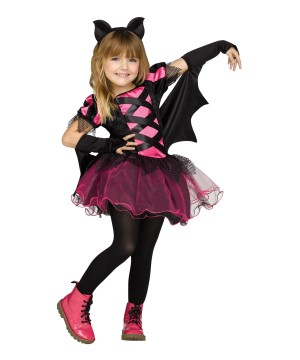 Toddler Girls Punk Bat Princess Costume
