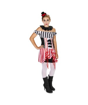 Traveling Circus Clown Teen Girls Costume