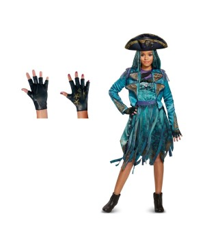 Descendants 2 Uma Girls Costume and Gloves Set