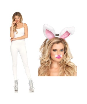 White Bunny Women Costume Set