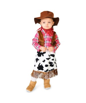 Wild Cowgirl Baby Girls Costume