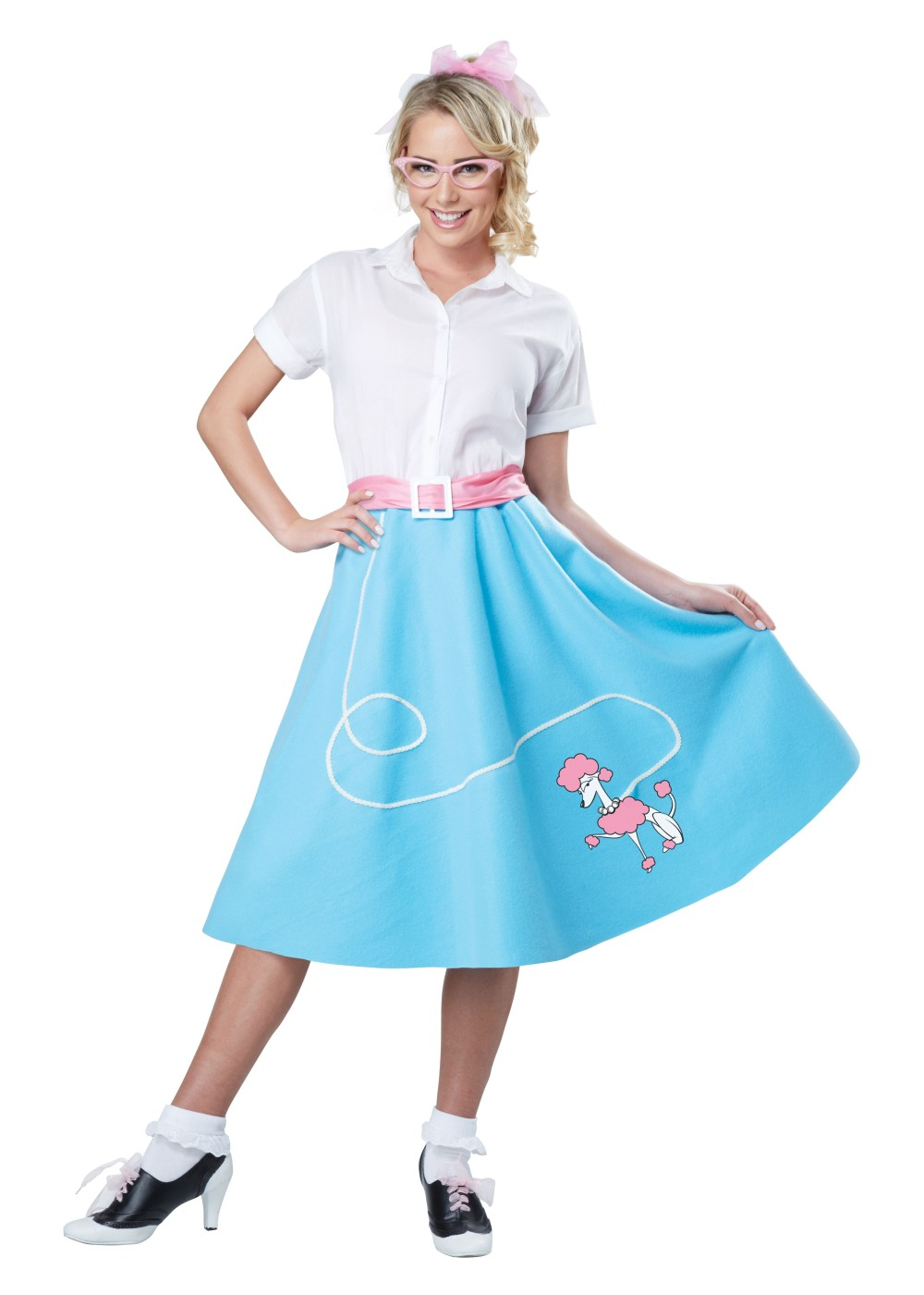 1950s Blue Poodle Women Skirt 1950s Costumes