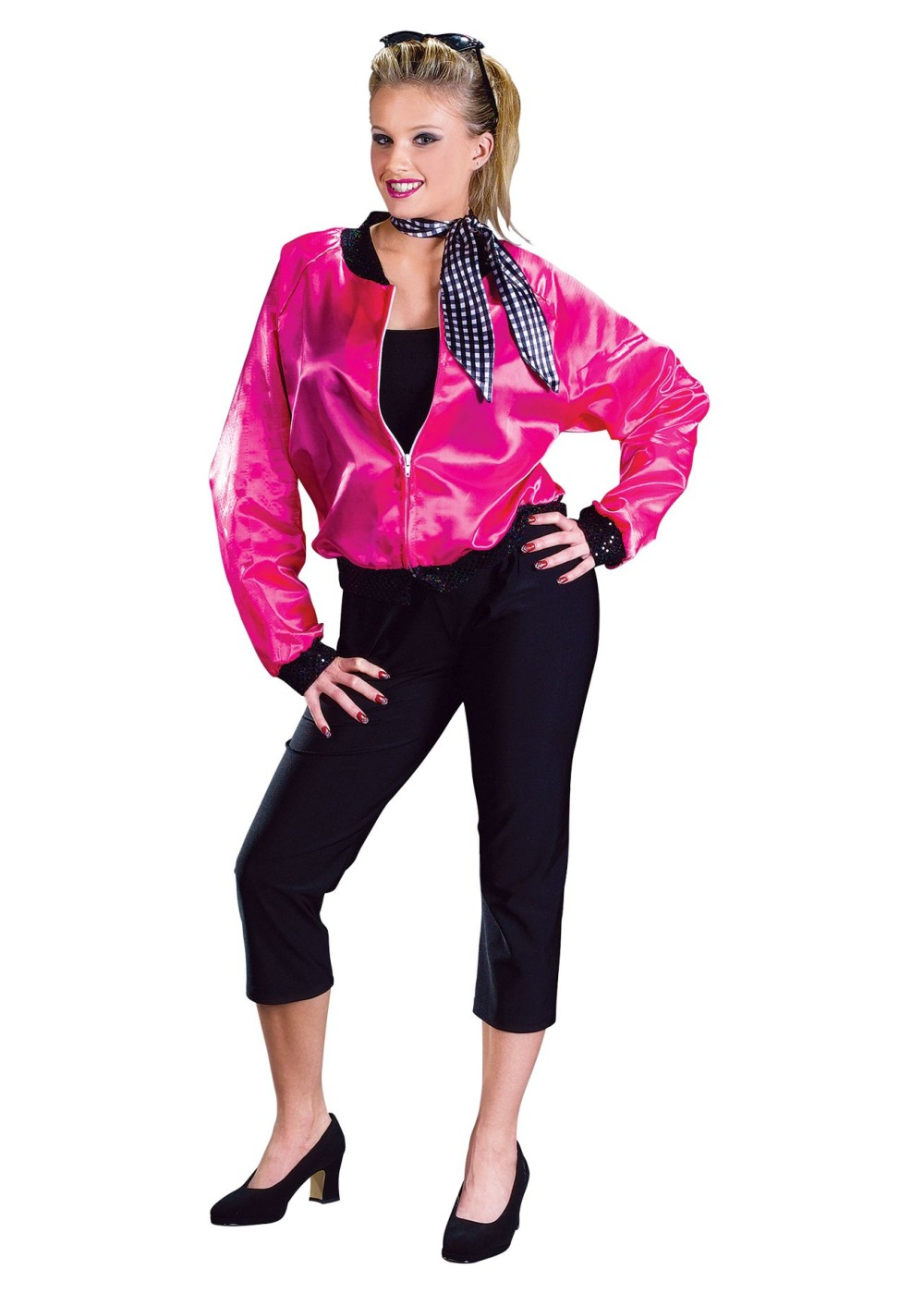 50s Rock N Roll Pink Women Jacket Costume Dancewear Costumes