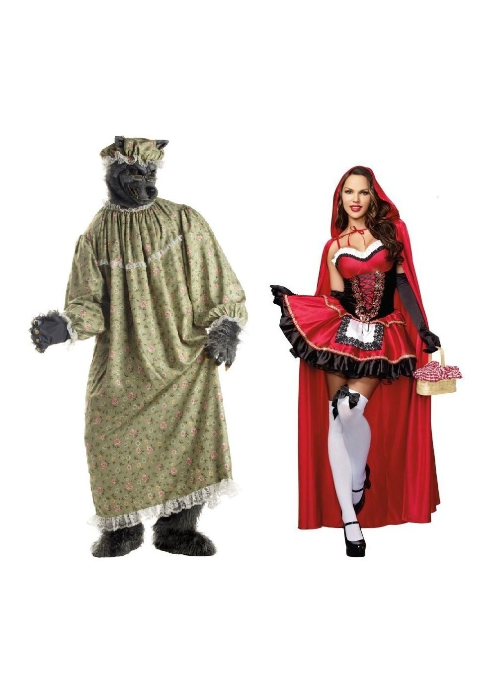 Little Red Riding Hood And Wolf Couples Costumes