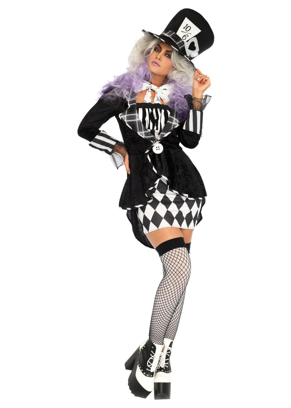 Great Alice In Wonderland Mad Hatter Women Costume
