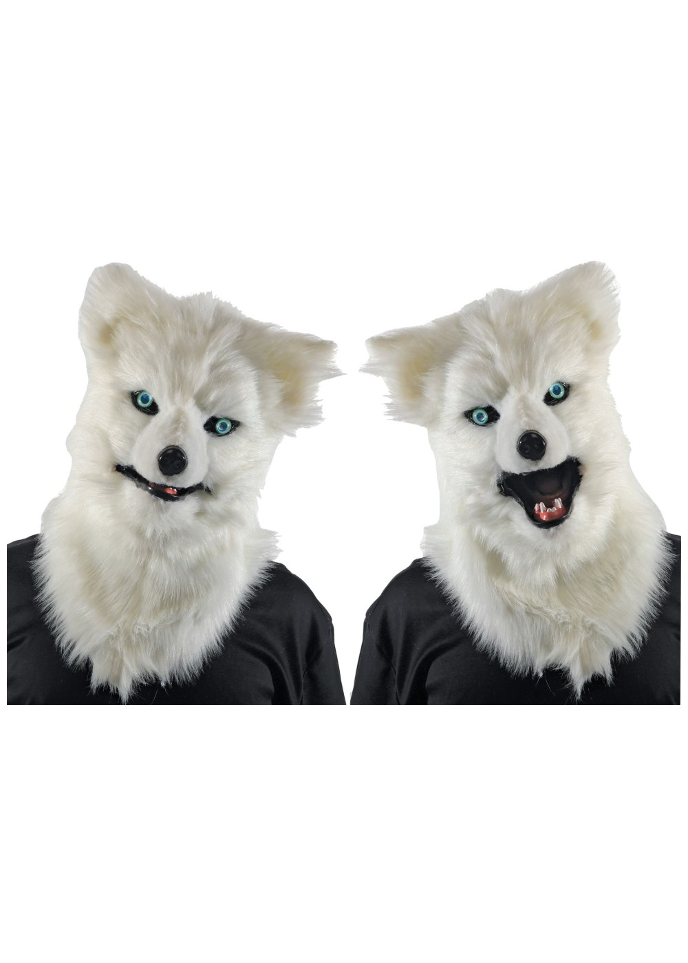 Animated White Wolf Mask Animal Masks