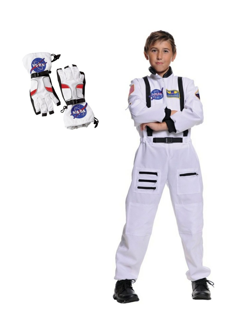 Boys Astronaut Costume And Gloves Set