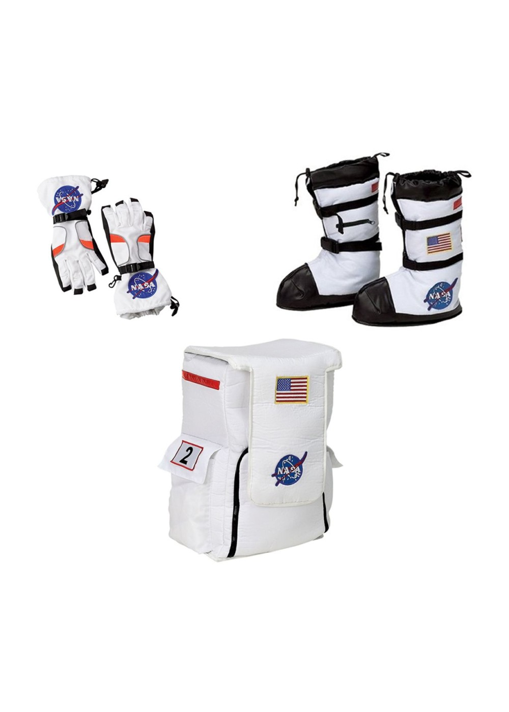 Astronaut Gloves Boots And Backpack Boys Costume Nasa Accessory Set