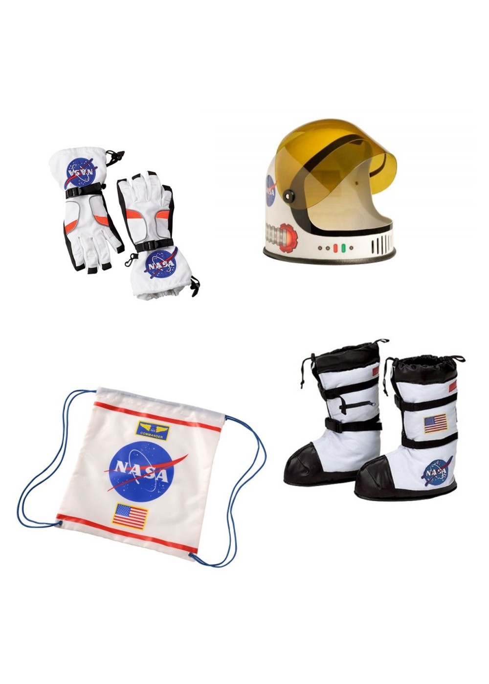 Astronaut Helmet Boots Gloves And Backpack Nasa Boys