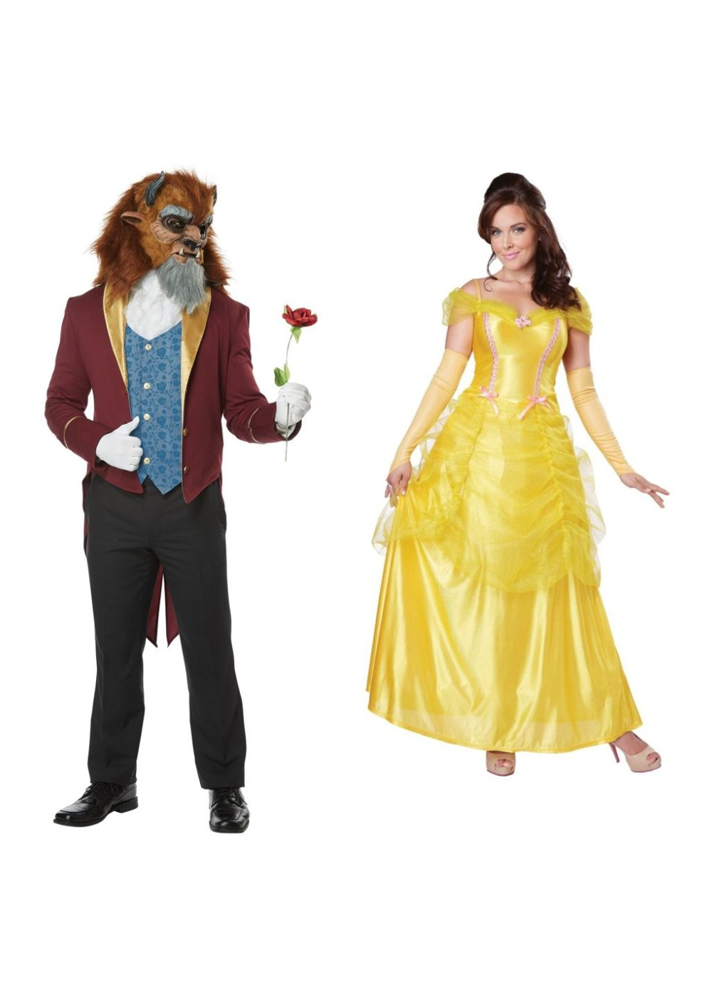 Beast Men Costume And Belle Women Costume Set
