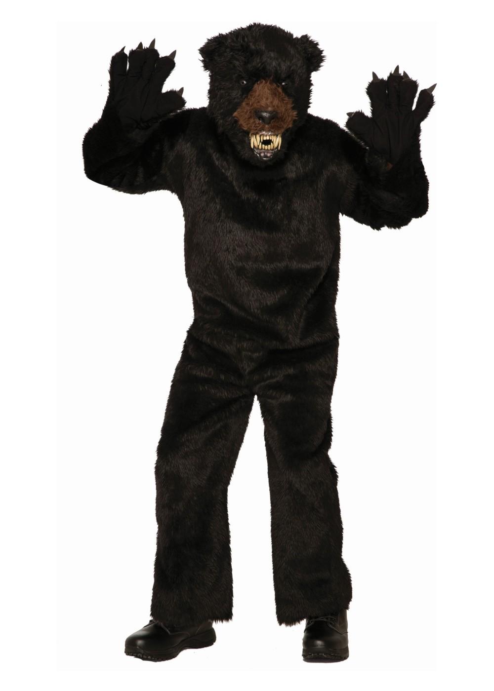 Black Scary Bear Men Costume Mascot Costumes