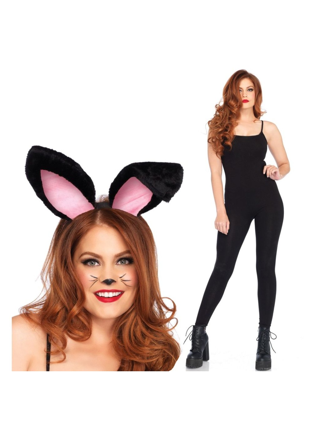 Black Bunny Women Costume Set