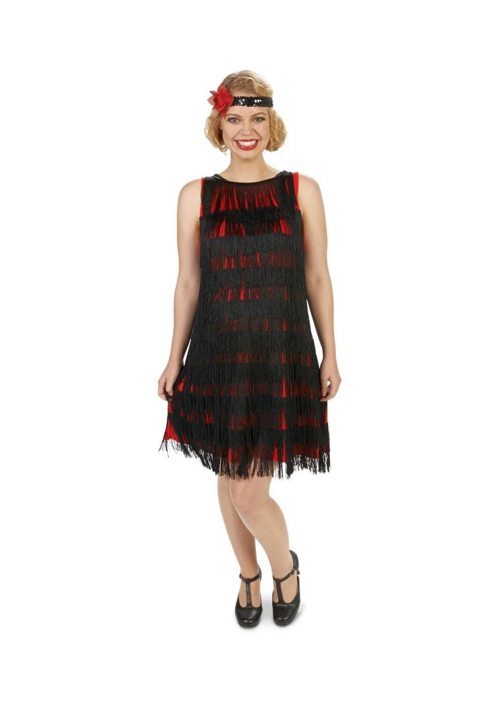 aeed3f14c0212 Black Fringe Womens Maternity Flapper Costume - 1920s Costumes